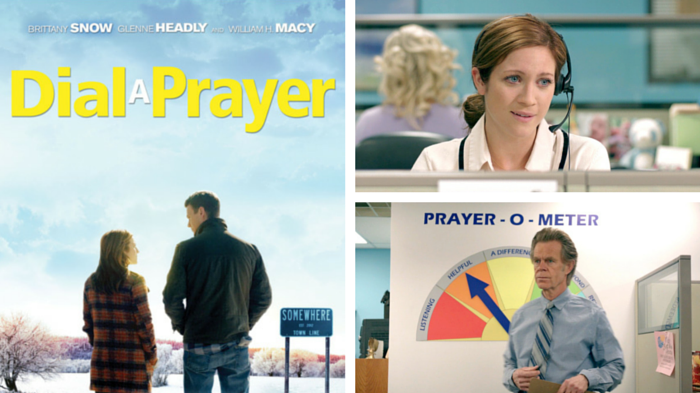 Brittany Snow, Tom Lipinski, and William H. Macy in Dial A Prayer